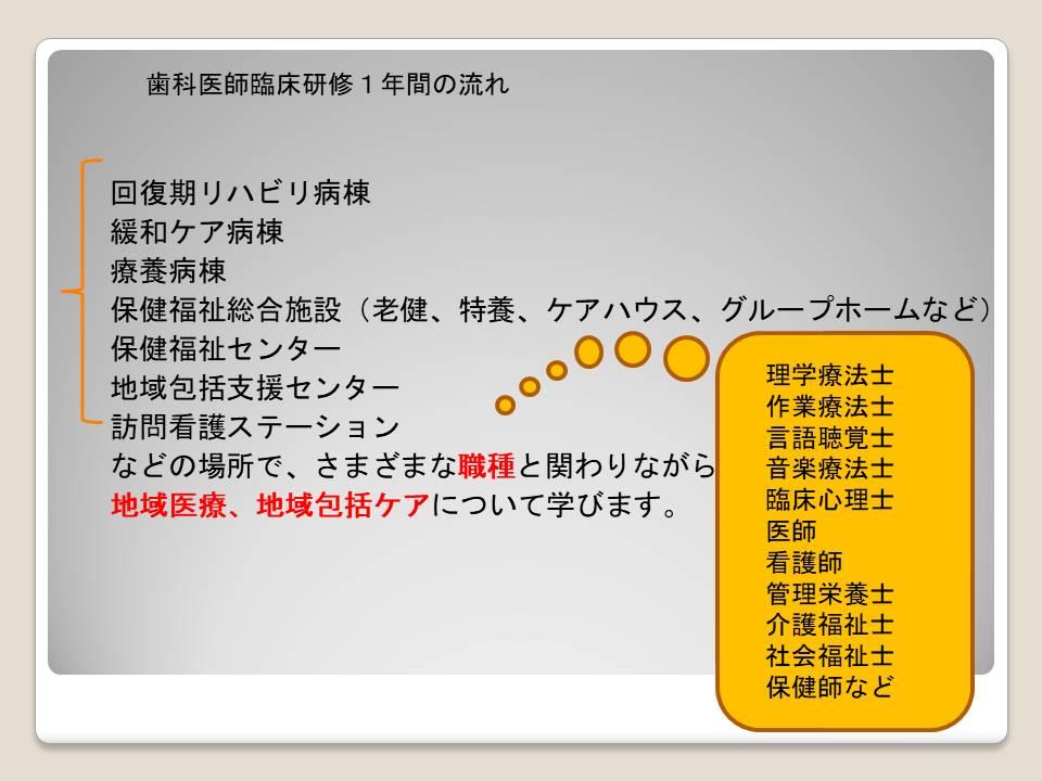 歯科臨床研修医内容3